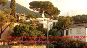 Villa con possibilità di ampliamento, vista mare Boissano Sv